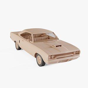 1970 Plymouth RoadRunner 440 hardtop 3D model