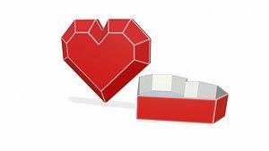 3D model box heart