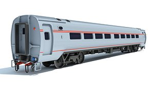 passenger car train 3D model
