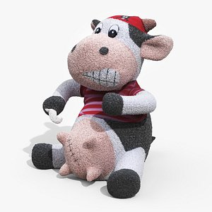 plush toy pirate cow 3D model