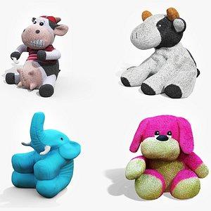 3D plush stuffed toys pack model