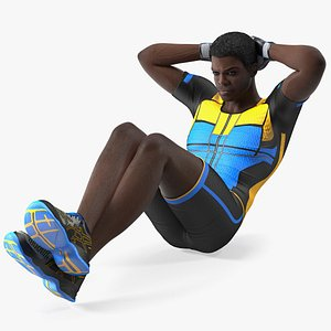 african american fitness instructor 3D model