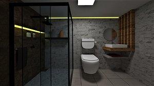 bathroom washroom 3D model