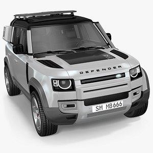 3D Land Rover Defender Explorer Pack model