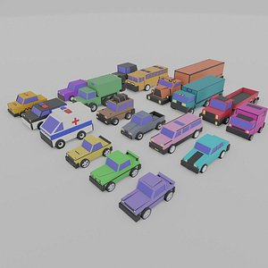 3D cars pack city