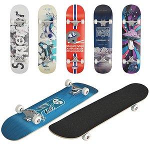 3D skate skateboard board