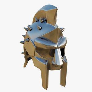 3D PBR Gladiator Helmet