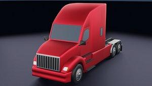 Big Truck Low-poly 3D model 3D model