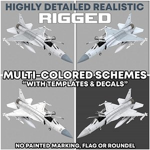 jf-17 rigged 3D model