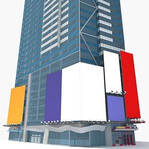 3D 7 square building