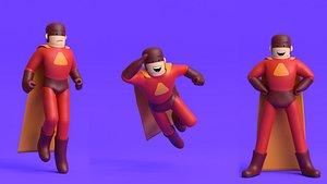 Minimal Superhero 3D Cartoon Character model