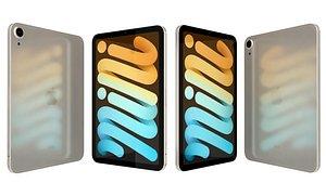 Apple iPad 10 2 2021 9th Gen Starlight 3D model