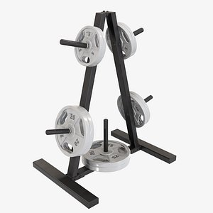 3D storage exercise rack