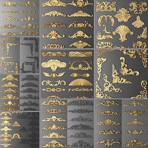 Classic Patterns ornaments 3D model model