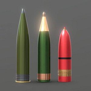 Heavy Artillery Shells 3 in 1 model