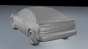 Nissan NX 1990 3D model