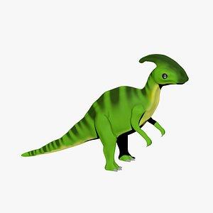 Parasaurolophus Cartoon Dinosaur for 3D print 3D
