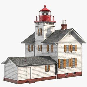 Yaquina Bay Light 3D model