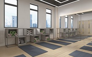 yoga room 3D model
