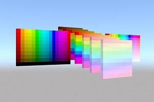 Color palette material color model