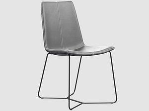 slope chair west elm 3D