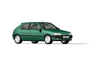 Peugeot 306 Roland Garros 3D model