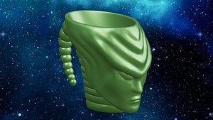 3d Print Alien Head Mug 3D model