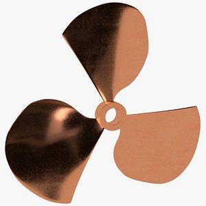 3D Three blades propeller fan