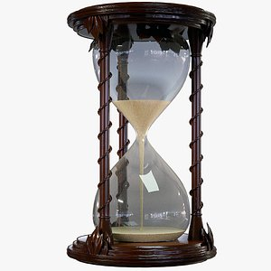3D Sand Hourglass Lowpoly PBR