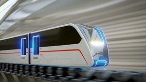 Sci Fi Train VR model