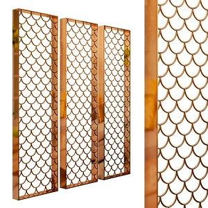 3D Decorative partition set 94 model