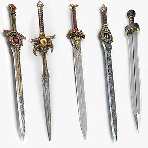 sword weapon gladius model