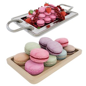 3D Macaroon tray collection