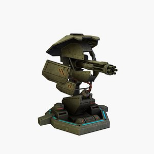 turret rigged 3D
