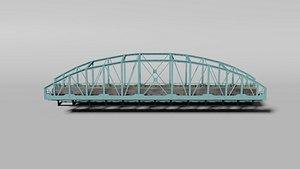 Arched railway bridge 3D model