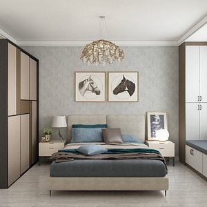 3D model Bedroom Concept
