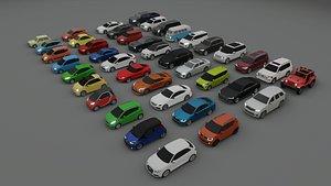 3D 40 cars