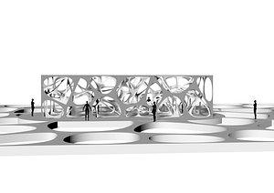 3D model pavilion parametric