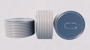 3D Tin Can  food 3D model