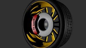 3D model rueda