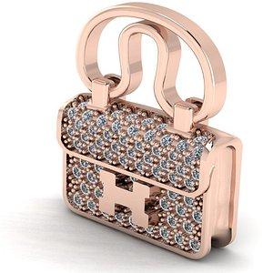bag hermes necklace 3D