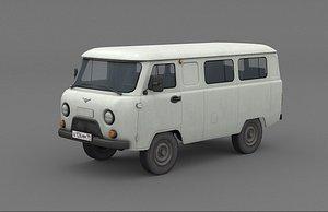 UAZ 2206 Bukhanka 3D model