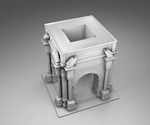 greek arch 3D model