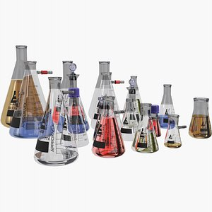 3D Conical Flask model