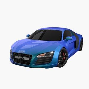 3D model audi r8 exterior