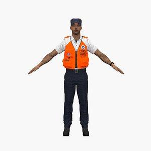 3D coast guard man