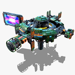 RTS - Space Games - Modular Station 3D model