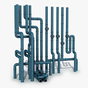 3D industrial pipe