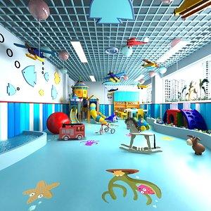 Colorful Full Kindergarden Playroom 3D