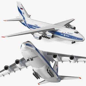 3D model Antonov An124 Ruslan Aircraft Volga Dnepr